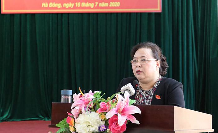 Lãnh đạo thành phố Hà Nội tiếp xúc cử tri quận Hà Đông