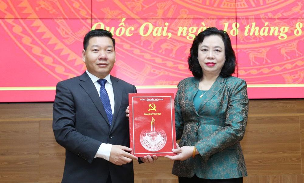 Đồng chí Nguyễn Trường Sơn được phân công giữ chức Phó Bí thư Huyện ủy Quốc Oai