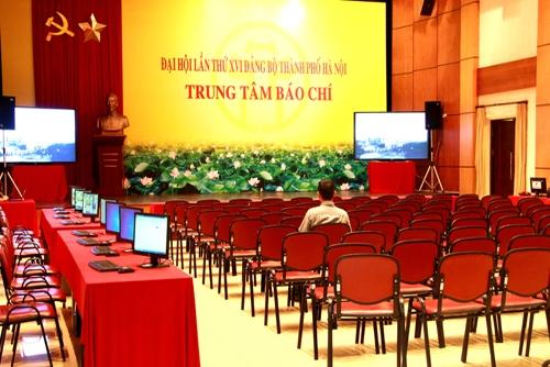 Thành lập Trung tâm báo chí phục vụ Đại hội Đảng bộ TP Hà Nội lần thứ XVII