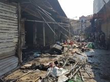 10 kiốt chợ ngoại thành cháy rụi