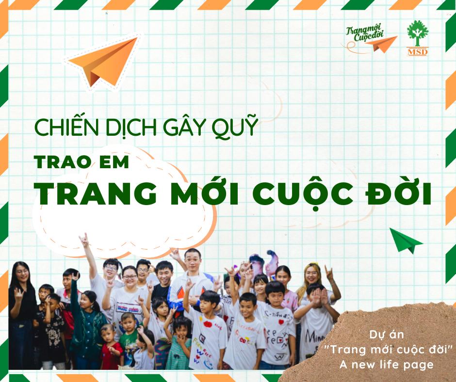 """Chiến dịch nằm trong khuôn khổ dự án """"Trang mới cuộc đời - A new life page"""" thuộc dự án thúc đẩy quyền được khai sinh cho trẻ em có hoàn cảnh khó khăn tại Thành phố Hồ Chí Minh"""