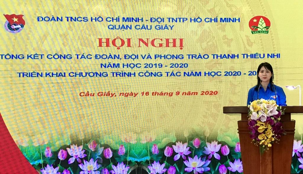 Chị Lê Thị Thu Trang, UVBTV Thành đoàn, Quận uỷ viên, Bí thư Quận đoàn Câù giấy