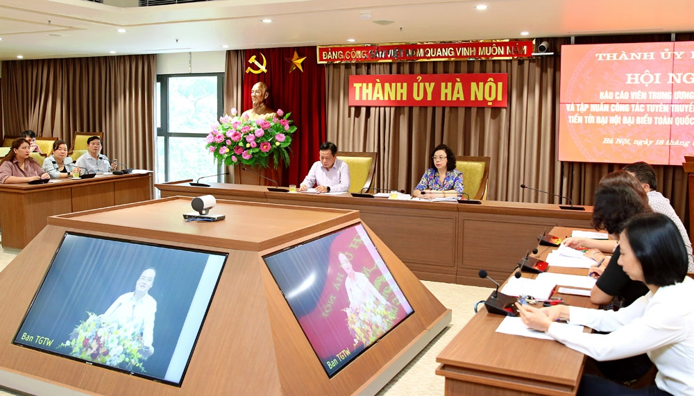 Tập trung tuyên truyền công tác tổ chức đại hội các đảng bộ trực thuộc Trung ương