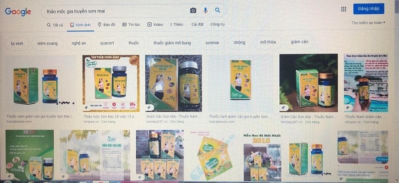 Sản phẩm chứa chất cấm nói trên đang được quảng cáo và bán hàng rầm rộ trên Shopee, Sendo…