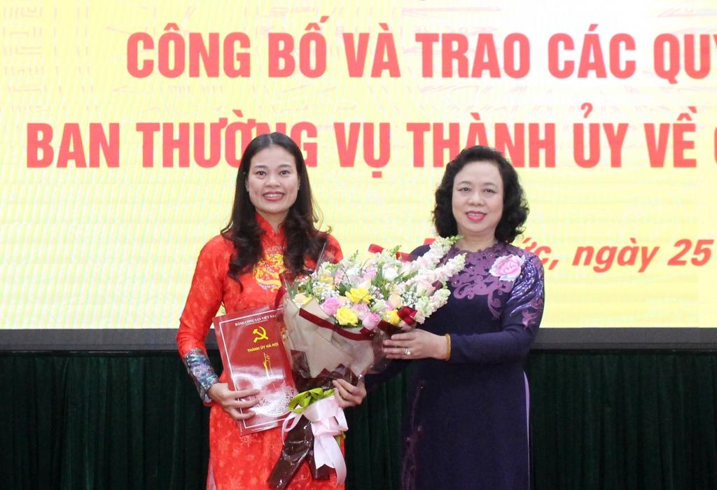Đồng chí Bạch Liên Hương làm Giám đốc Sở LĐTB&XH Hà Nội
