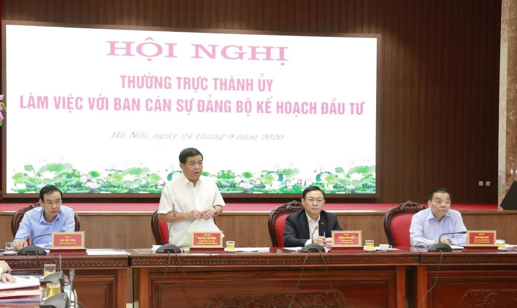 Bộ trưởng Bộ KH&ĐT Nguyễn Chí Dũng phát biểu tại hội nghị