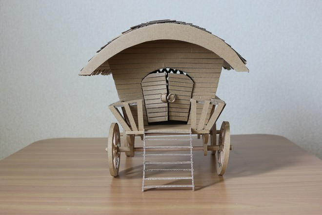 Chàng trai làm mô hình từ thùng giấy carton 'gây sốt' cộng đồng mạng - ảnh 15