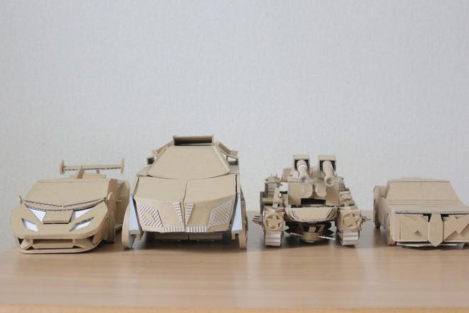 Chàng trai làm mô hình từ thùng giấy carton 'gây sốt' cộng đồng mạng - ảnh 16