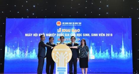 sv startup 2019 khoi day tinh than khoi nghiep trong cac truong hoc