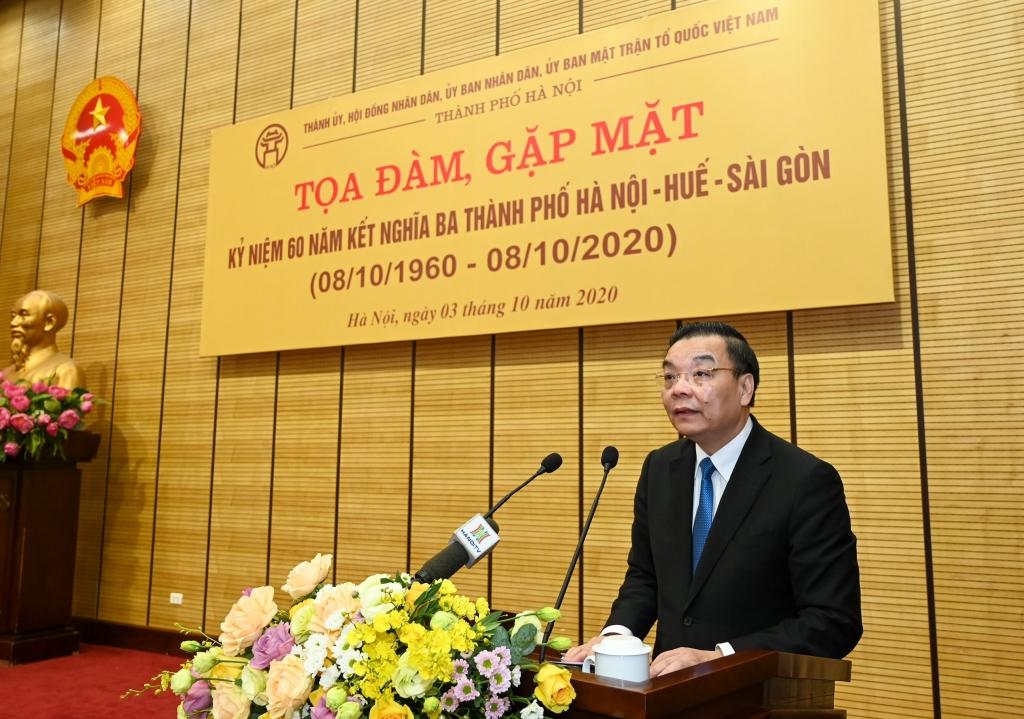 Chủ tịch UBND TP Hà Nội Chu Ngọc Anh phát biểu khai mạc Tọa đàm