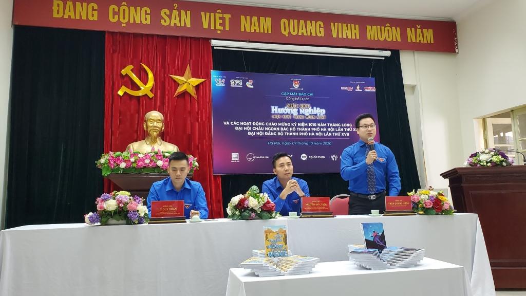 Đồng chí Trần Quang Hưng, Phó Bí thư Thành đoàn Hà Nội thông tin về các hoạt động