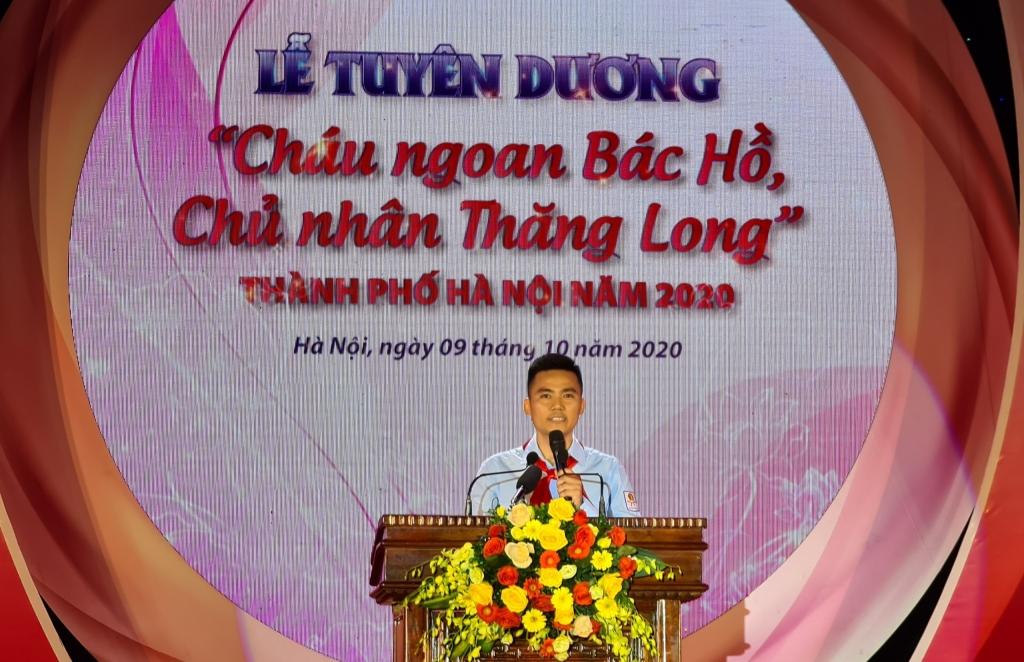 Đồng chí Lý Duy Xuân, Phó Bí thư Thành đoàn, Chủ tịch Hội đồng Đội thành phố tại sự kiện