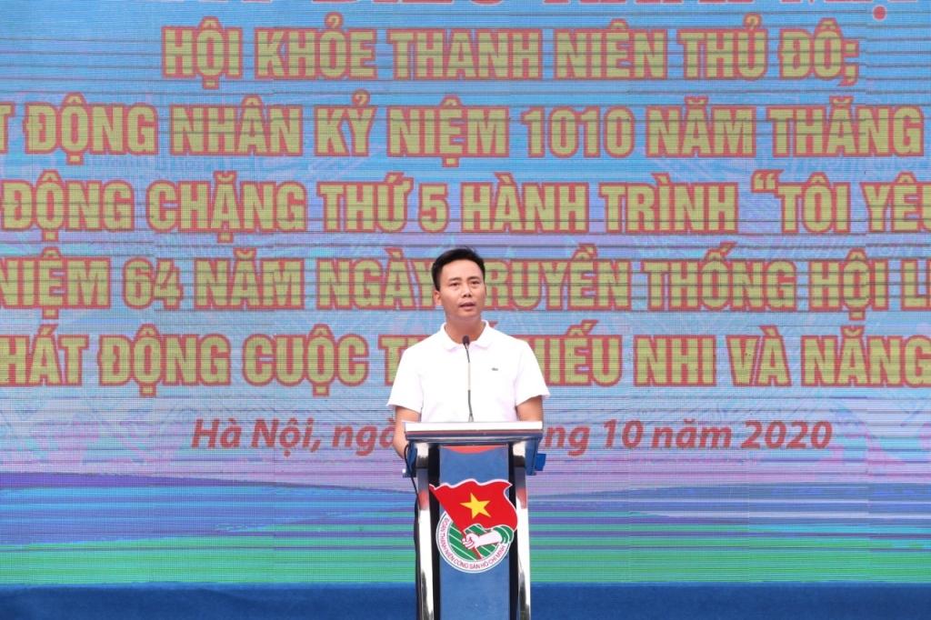 Đồng chí Nguyễn Đức Tiến phát biểu tại chương trình