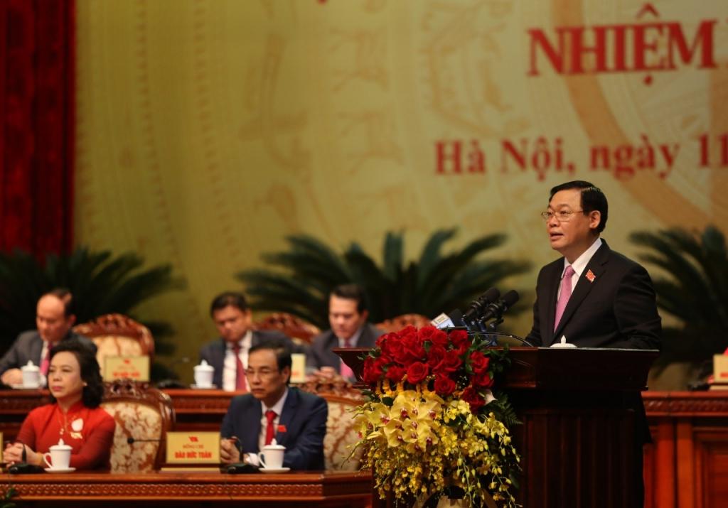 Bí thư Thành ủy Vương Đình Huệ phát biểu bế mạc
