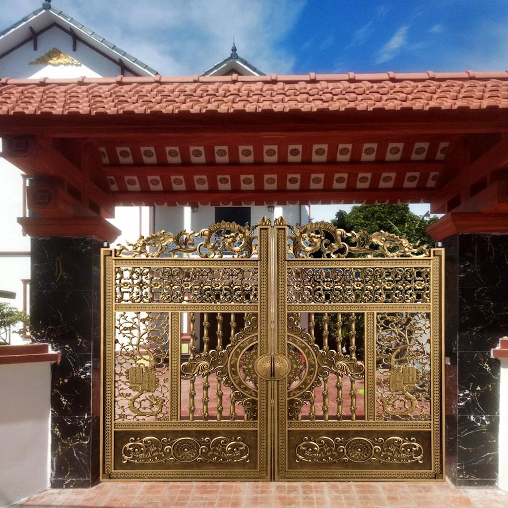 Đối với mỗi công trình, cổng chính là điểm nhấn tạo ấn tượng đầu tiên.