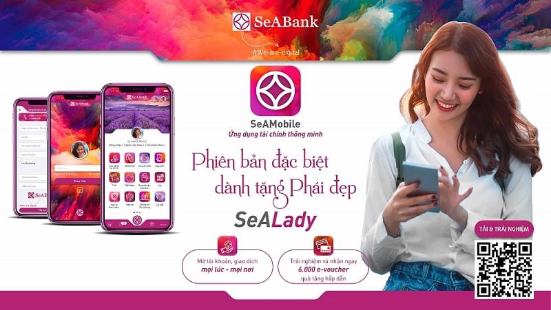 Ứng dụng ngân hàng số của SeABank phiên bản SeALady