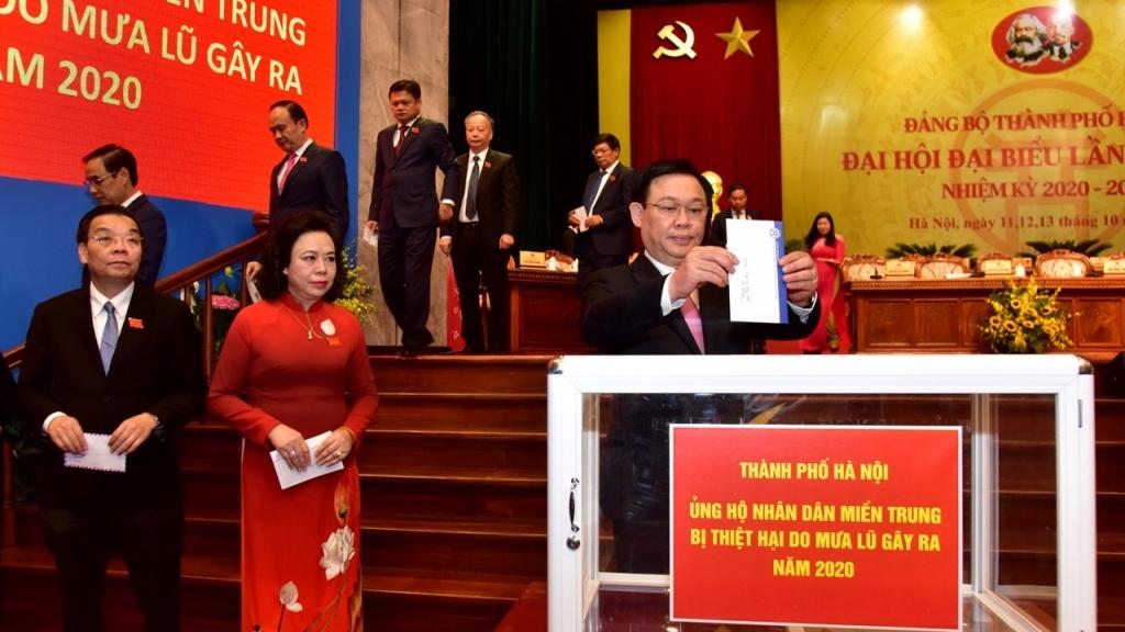 Thành ủy Hà Nội kêu gọi ủng hộ Nhân dân các tỉnh miền Trung bị thiệt hại do mưa lũ