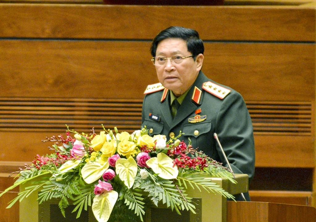Bộ Trưởng Bộ Quốc phòng Ngô Xuân Lịch giải trình một số nội dung