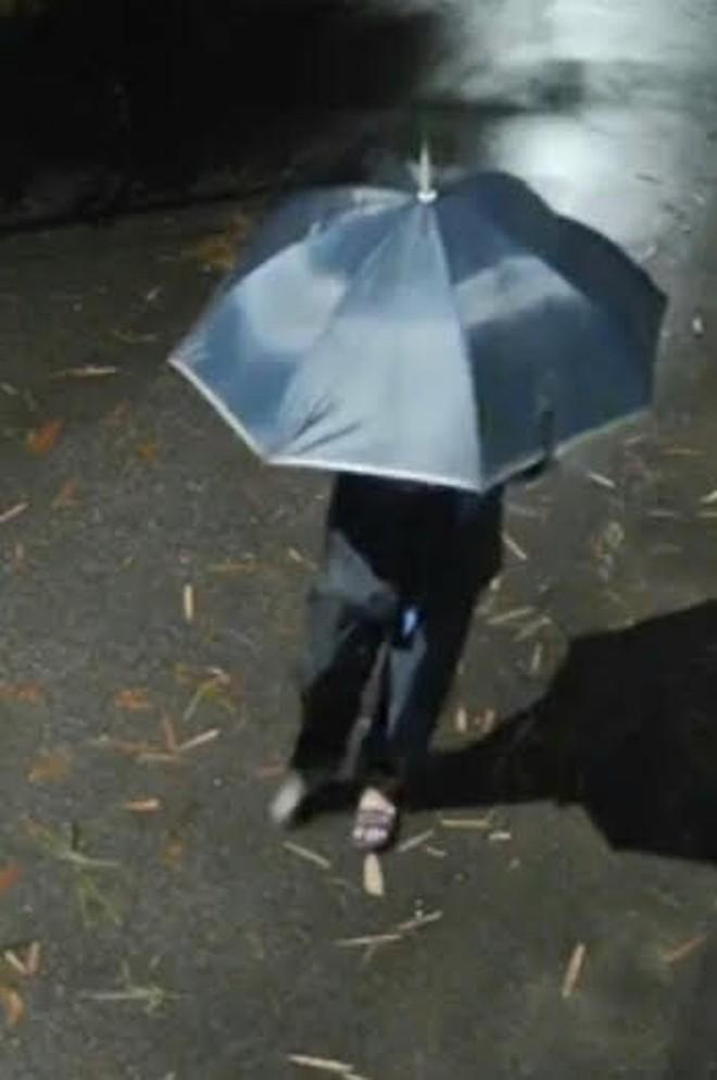 Truy tìm tên cướp cầm ô đi gây án trong đêm tối tại Đông Anh ảnh 1