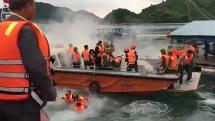 Tạm giữ các đối tượng cản trở, ném bom vào đoàn cưỡng chế ở Vân Đồn, Quảng Ninh
