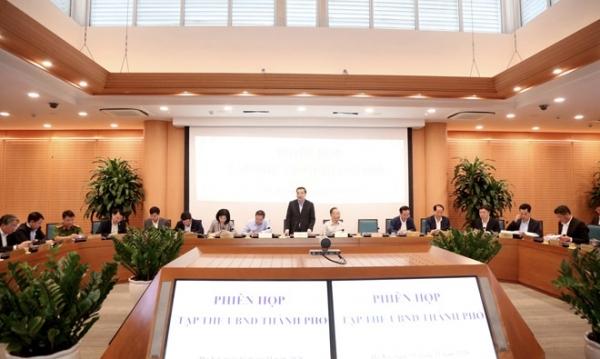 Tập thể UBND thành phố Hà Nội xem xét nhiều nội dung quan trọng trình kỳ họp HĐND thành phố