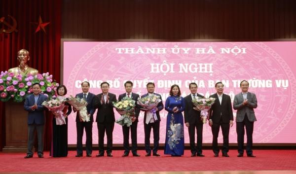 Thành ủy Hà Nội công bố các quyết định về công tác cán bộ