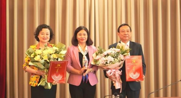 Thành ủy Hà Nội công bố quyết định công tác cán bộ Ban Tuyên giáo và Ban Dân vận
