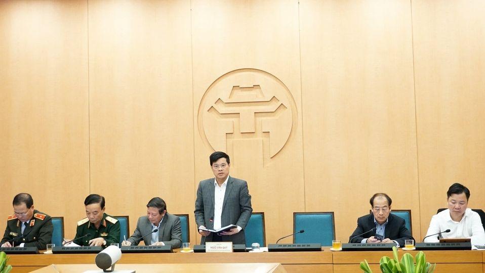 Phó Chủ tịch UBND TP Ngô Văn Quý phát biểu tại cuộc họp