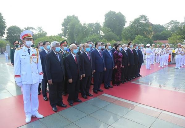 Lãnh đạo Đảng, Nhà nước, Mặt trận Tổ quốc viếng Chủ tịch Hồ Chí Minh, tưởng niệm các Anh hùng liệt sĩ