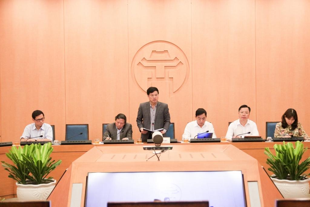 Phó Chủ tịch UBND TP Hà Nội Ngô Văn Quý phát biểu tại buổi làm việc