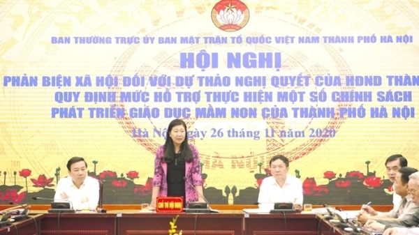 MTTQ Việt Nam TP Hà Nội lấy ý kiến phản biện vào Dự thảo Nghị quyết quy định mức hỗ trợ giáo dục mầm non