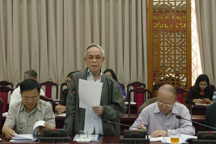 Chủ nhiệm Hội đồng tư vấn Văn hóa xã hội Phạm Lợi phát biểu tại hội nghị