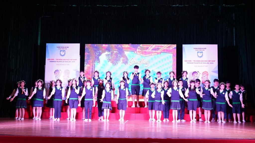 Phần thi tài năng của các bạn học sinh trường THCS Nguyễn Tri Phương