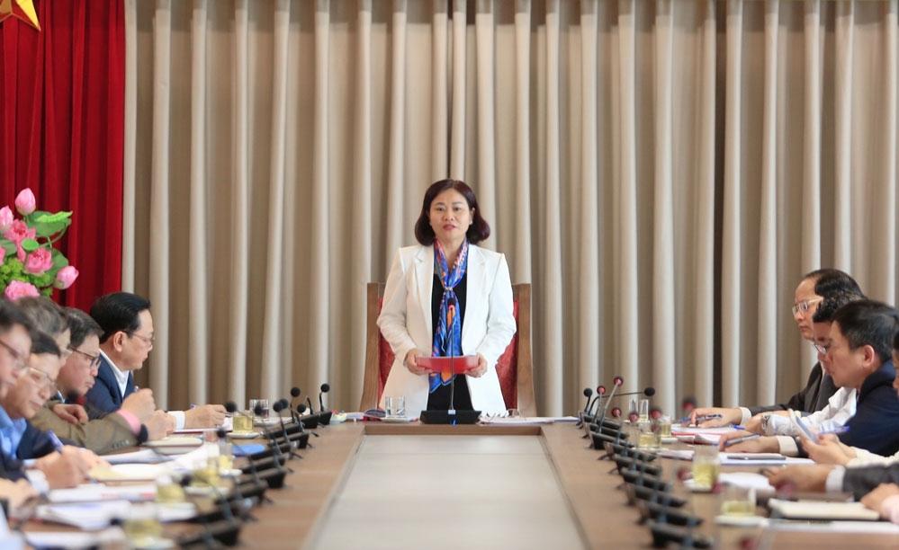 Phó Bí thư Thường trực Thành ủy Nguyễn Thị Tuyến phát biểu chỉ đạo hội nghị