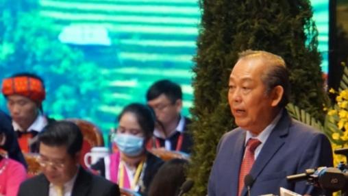 Phó Thủ tướng Thường trực Chính phủ Trương Hòa Bình phát biểu khai mạc Đại hội
