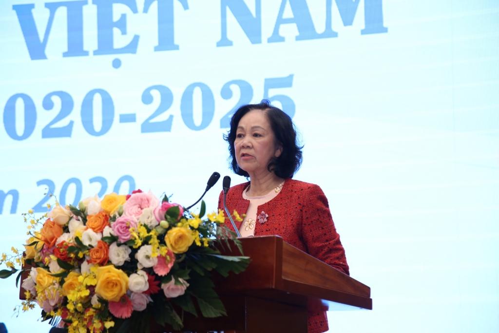 Ủy viên Bộ Chính trị, Trưởng ban Dân vận Trung ương phát biểu tại Đại hội
