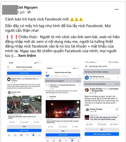 Tái diễn trò gắn thẻ trên Facebook để đánh cắp thông tin