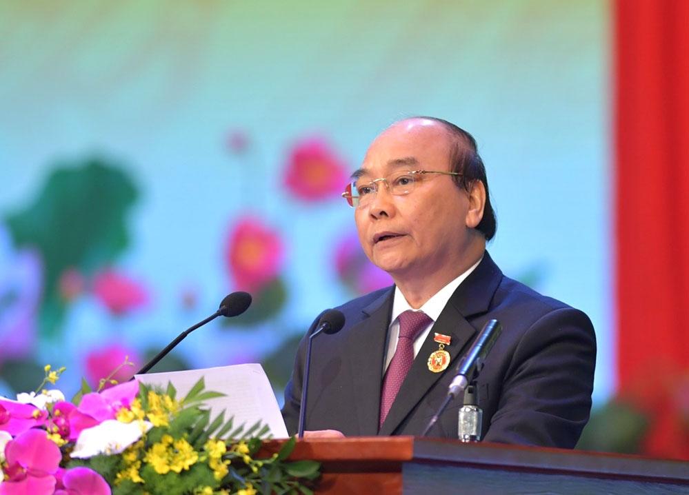 Thủ tướng Nguyễn Xuân Phúc phát biểu khai mạc Đại hội