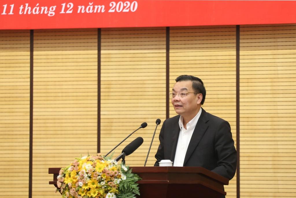 Chủ tịch UBND TP Chu Ngọc Anh phát biểu chỉ đạo tại hội nghị