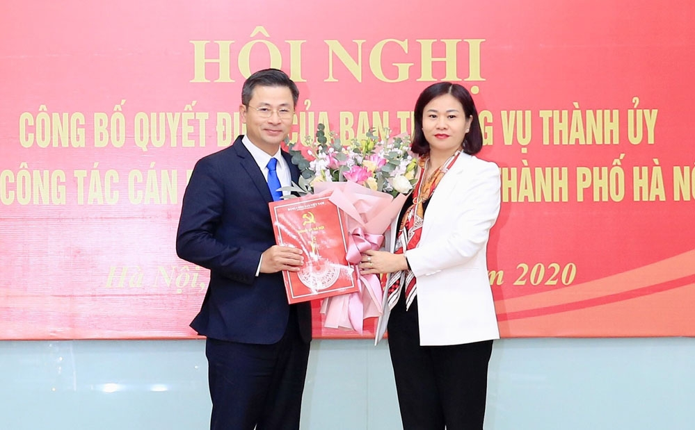 Bí thư Huyện ủy Ứng Hòa được điều động làm Bí thư Đảng Đoàn Liên đoàn Lao động thành phố