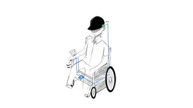 Xe lăn được điều khiển bằng đầu, tay  - ảnh 2