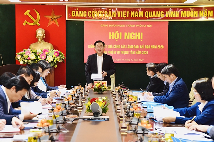 Bí thư Thành ủy Vương Đình Huệ phát biểu chỉ đạo