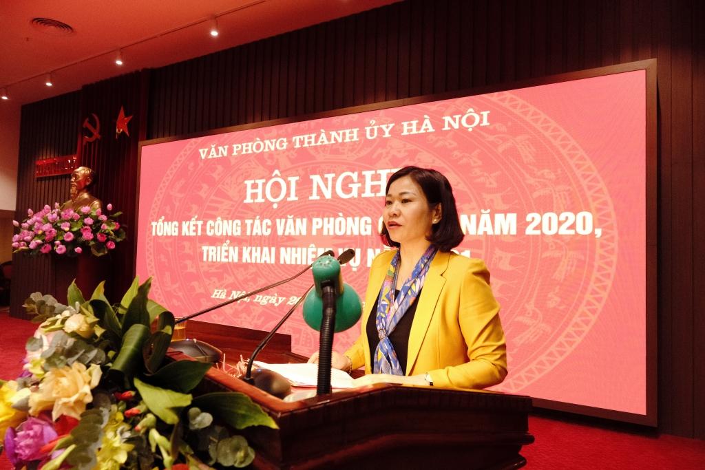 Phó Bí thư Thường trực Thành ủy Nguyễn Thị Tuyến phát biểu chỉ đạo tại hội nghị