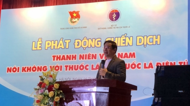 """Phát động chiến dịch """"Thanh niên Việt Nam nói không với thuốc lá và thuốc lá điện tử"""""""