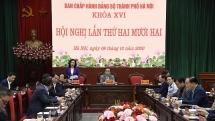 Khai mạc Hội nghị lần thứ 22 Ban Chấp hành Đảng bộ thành phố Hà Nội khóa XVI