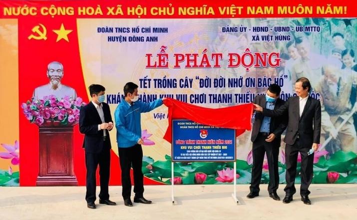Tuổi trẻ huyện Đông Anh ra quân trồng cây, xây sân chơi thanh thiếu nhi