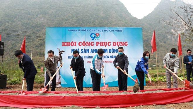 Lễ khởi công phục dựng Nhà sàn anh Kim Đồng