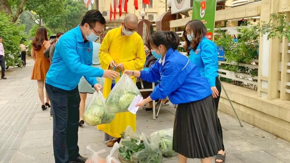 Tuổi trẻ Thủ đô hỗ trợ nông dân Hải Dương tiêu thụ nông sản