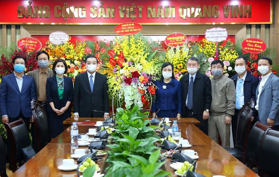 Chủ tịch UBND thành phố Hà Nội Chu Ngọc Anh chúc mừng Ban Bảo vệ, chăm sóc sức khỏe cán bộ trung ương