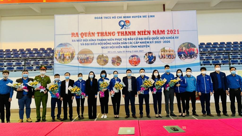 Lễ ra quân Tháng Thanh niên 2021 của tuổi trẻ huyện Mê Linh